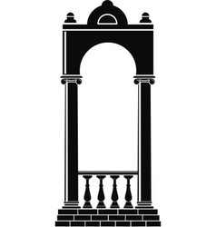 silhouette of an arch vector image