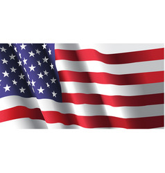 american flag waving vector image vector image