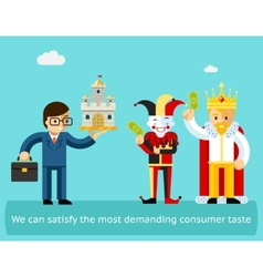 High sales and satisfied customers business vector image