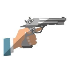 Isolated gun design vector image