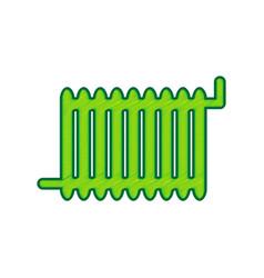 radiator sign lemon scribble icon on vector image vector image