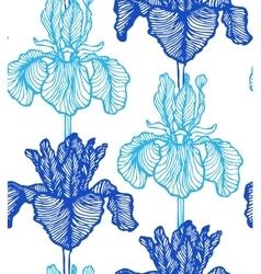 Seamless iris background vector