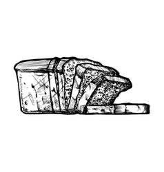 sliced fresh bread vector image vector image