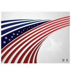 Stylized background USA patriotic design with line vector image