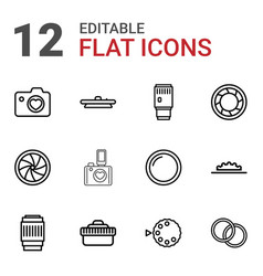 12 aperture icons vector