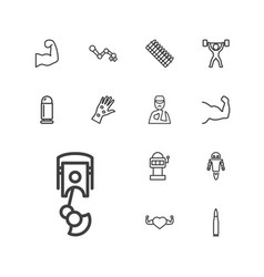 13 arm icons vector