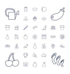 37 natural icons vector