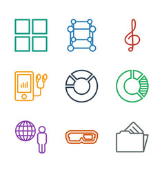 9 3d icons vector