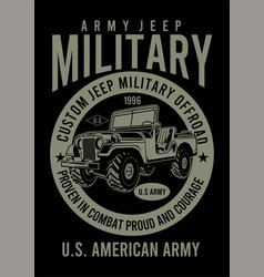 American jeep army vector