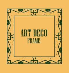art deco vintage frame vector image