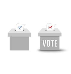 ballot box for presidential election in usa vector image