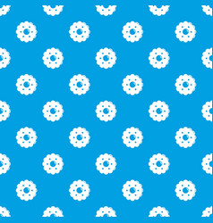 biscuits pattern seamless blue vector image