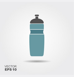 bottle water gym flat icon with vector image