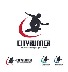 City runner logo vector