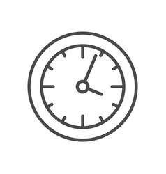 Clock line icon vector