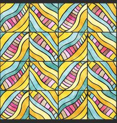 Colored zigzag pattern vector