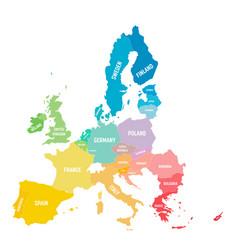 colorful map eu european union member vector image
