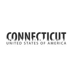 connecticut usa united states of america text vector image