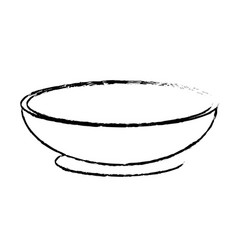 Contour bowl to prepare delicious and healthy vector