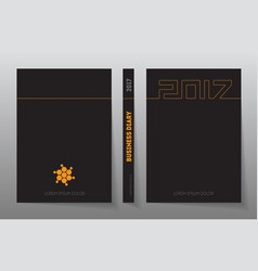 Cover business diary for 2017 with logo design vector
