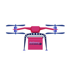 delivery drone express delivery air service vector image