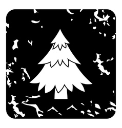 Fir tree icon grunge style vector