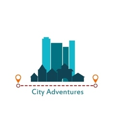 Flat design urban landscape City Adventure vector