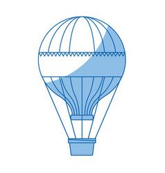 Funfair airballoon with stripes basket vector