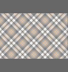 Gold silver color tartan seamless pattern vector