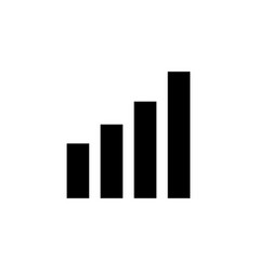 graph icon gworth symbol vector image