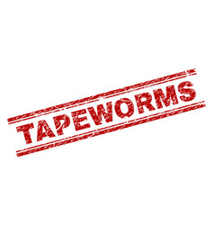 Grunge textured tapeworms stamp seal vector