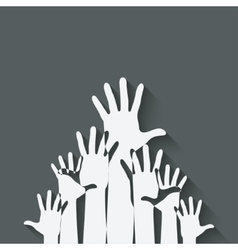 hands up symbol vector image
