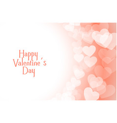 happy valentines day beautiful soft hearts vector image