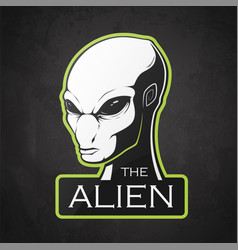 head of alien vector image
