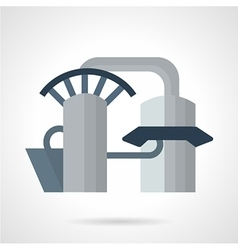 Hydropower plant icon vector