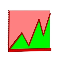 infographics line graph vector image