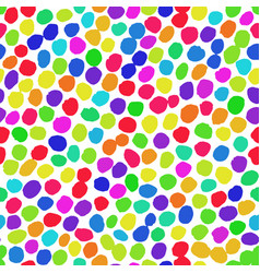 irregular dots rainbow pattern vector image