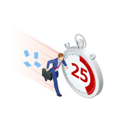 isometric project deadline time management vector image