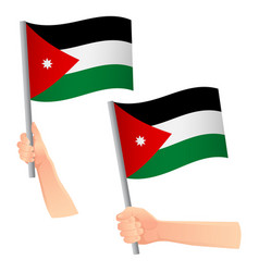 Jordan flag in hand icon vector