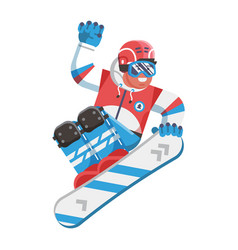 jumping snowboarder freestyling vector image
