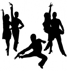latino dance silhouettes vector image