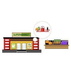 Local shop at the summer farmers market vector image