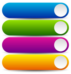 Long colorful and rounded buttons vector