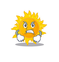Mascot design concept summer sun with angry vector