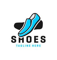 mens shoes modern logo vector image