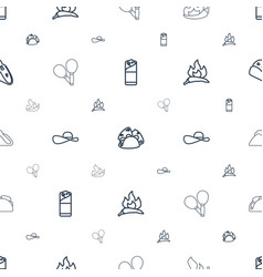mexican icons pattern seamless white background vector image