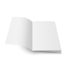Mock up of book or magazine vector