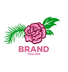 modern beautiful rose flower logo vector image