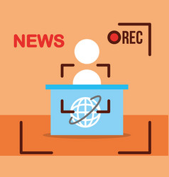 News communication related vector