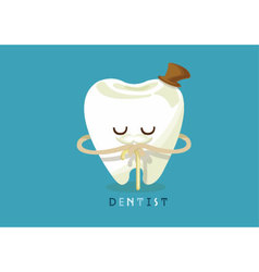 Older tooth vector image